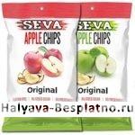 Яблочные чипсы (сушеные яблоки) бесплатно